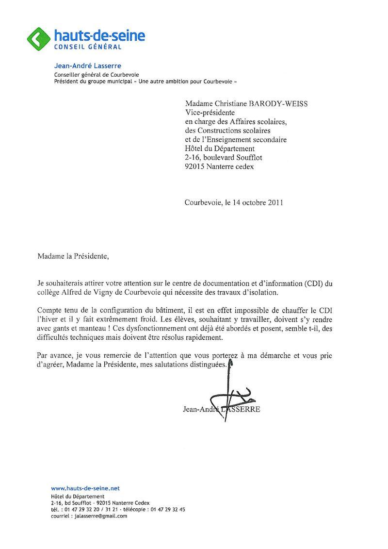 2011-10 Lettre C. BARODY-WEISS CDI A. de Vigny