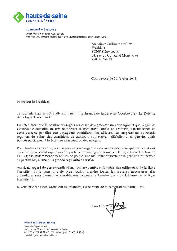 Sncf Ligne L St Lazare La Defense Jean Andre Lasserre Ecrit Au