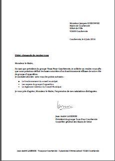 modele lettre demande de rendez vous avec le maire Tous pour Courbevoie: 05   Courriers des élus Tous Pour Courbevoie modele lettre demande de rendez vous avec le maire