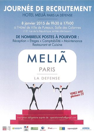Recrutement-Hotel-Melia-La-Defense-le-08-01-2015