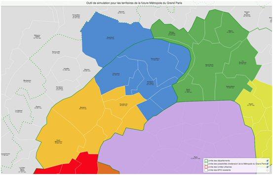 Carte proposée par l'opposition
